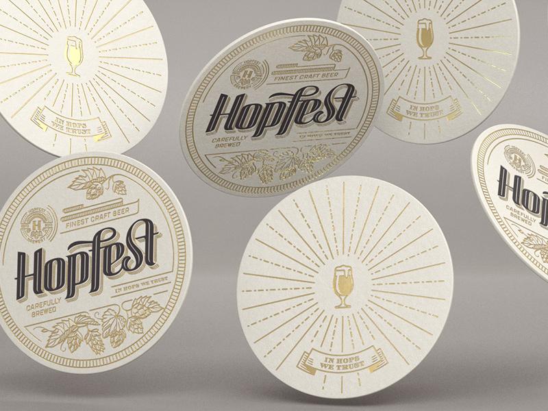 Hopfest Pads visualisation 3d letterpress pads beer craft