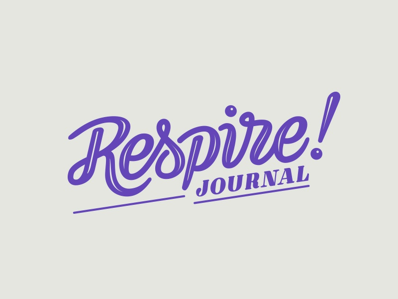 Respire Journal vector lettering brand logo