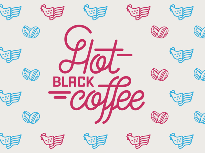Hot Black Coffee Lettering design graphic pattern lettering vector