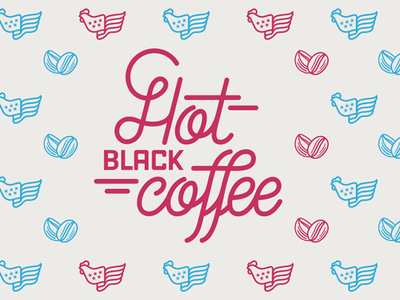 Hot Black Coffee Lettering