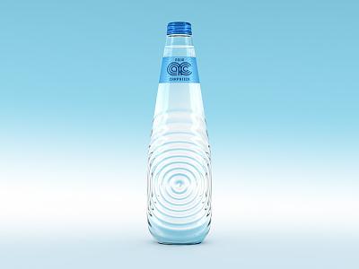 Aqua Carpatica Silhouette concept packaging design premium bottle glass mineral water