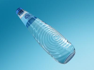 Aqua Carpatica bottle concept packaging design premium bottle glass mineral water