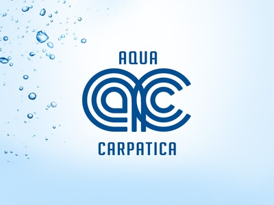 Aqua Carpatica Logo branding logo concept design premium mineral water