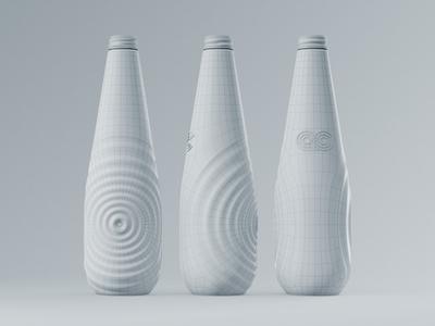 Aqua Carpatica Bottle Structure structure modo 3d concept packaging design premium bottle glass mineral water