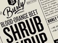 Burly Shrub Labels