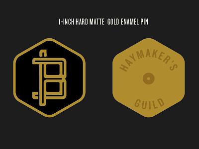 Haymaker's Guild Enamel Pin craft soda logo branding promotional items lapel pin enamel pin