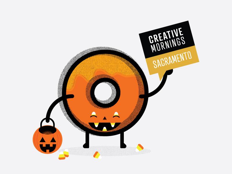 Cm Halloween candycorn pumpkin halloween donut creative mornings