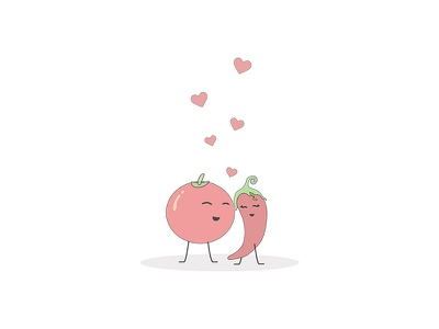 Wishlist Empty State illustration uiux tomato chilli vegetable app ecommerse empty state wishlist