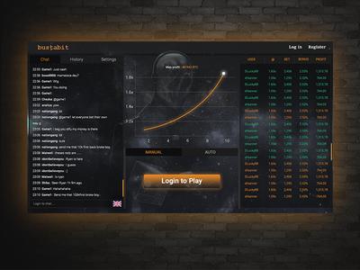 Crash game : CSGO stats graph crash play ux button csgo ui game