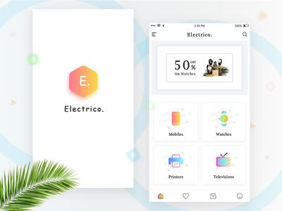 E commerce home UI Screen presentation splash icon fasion screen home minimal clean gradient ux ui e commerce