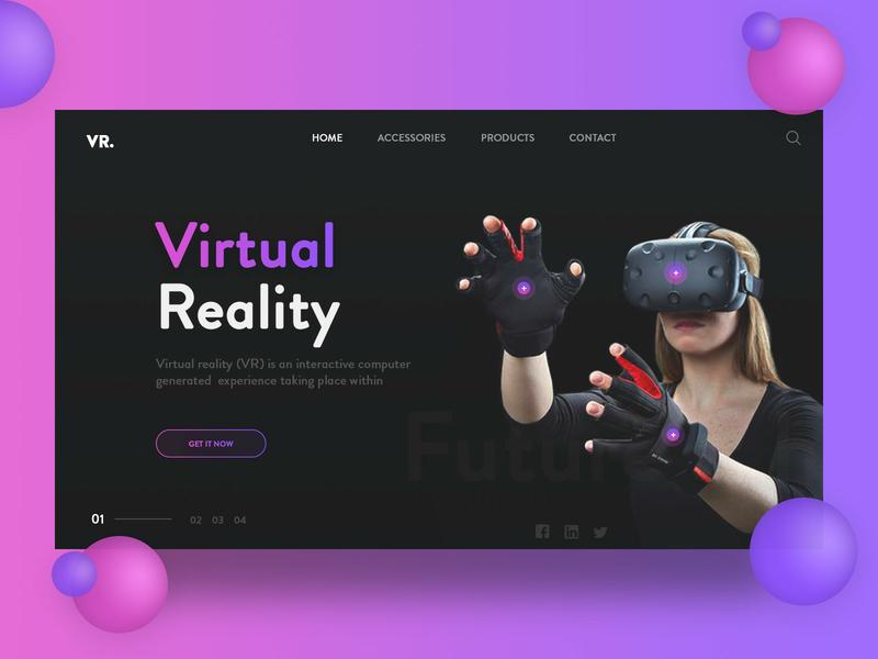 VR Dark UI Exploration website banner login ui product card virtual reality minimal design gradient vr black landing page ui  ux header dark