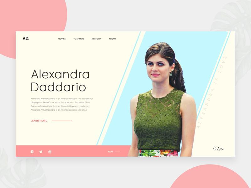 Header UI Exploration 2 icon responsive design web ui website banner app color pastal gif animation e commerce slider header fashion ux design landing page minimal ui