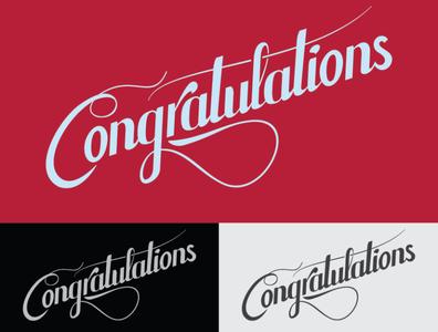 Congratulations - sketch for a gift card design