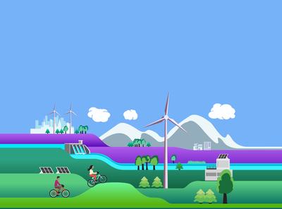 Illustration for a green investment adviser startup