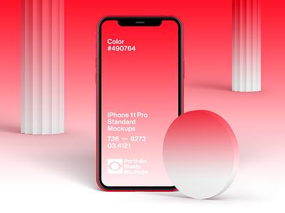 iPhone 11 Pro Standard Mockups ux ui portfolio iphone case study apple branding tech design mockup