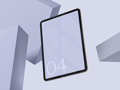 iPad Pro 04 Standard Mockup template web mobile smart object mockup photoshop psd screen tablet device apple pro ipad