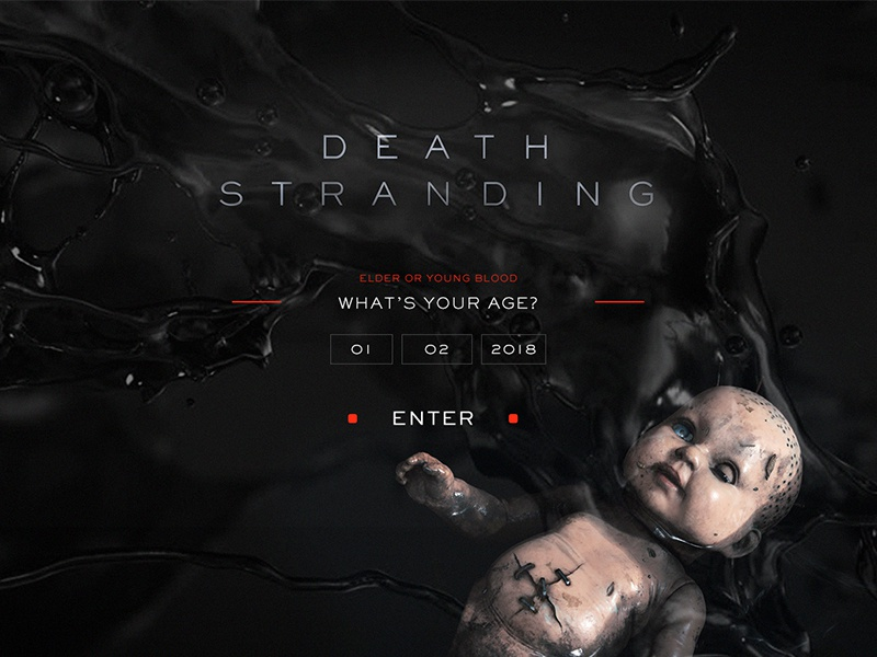 PS4 game Death Stranding web_intro by Felix Paula on Dribbble