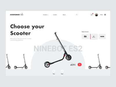 E-commerce scooter customizing concept - Home Page #2