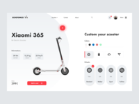 E-commerce scooter customizing concept - Custom Page