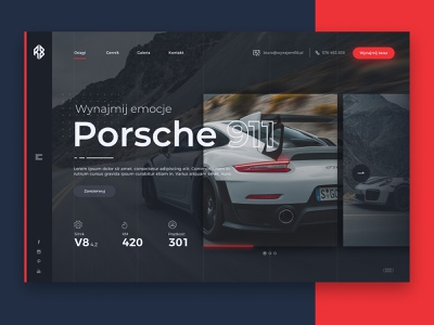 Porsche rental website design rental porsche porsche 911 responsive web ui ux website