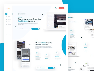 Website for real estate platform ui ux mobile dashboard platform website