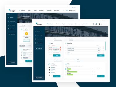 Intranet dashboard design web intranet ui ux