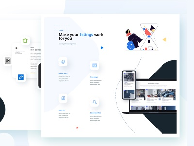 Website for Theme platfrom website web ui ux app design