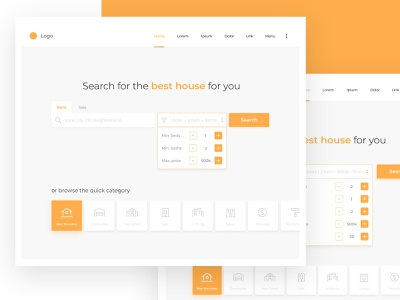 Real Estate Search Engine web real estate realestate search website design ui ux