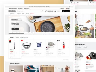 Ecommerce - Kitchen stuff ecommerce website web ui ux design