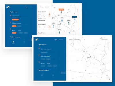 Public transportation web app aplication public transport web website ui ux design