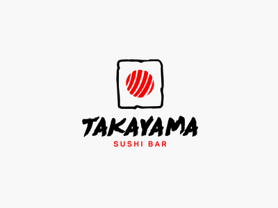 Sushi bar logo typography vector design logotype branding logo