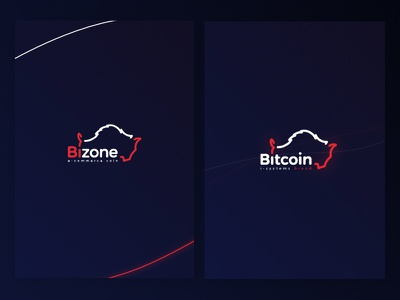 Bitcoin Zone - Bizone Brand bison vector design logotype branding logo