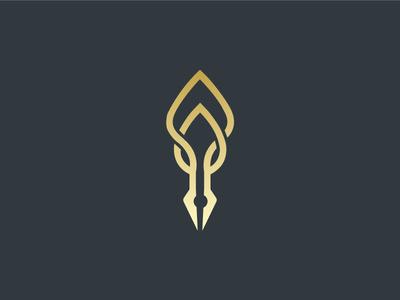 Pen Leaf Logo mark