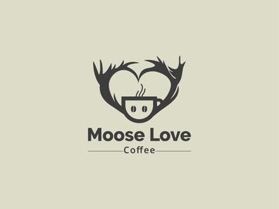 Moose love Coffee logo