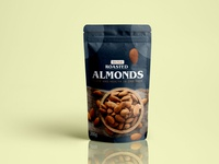 Almond Pouch Packaging Design