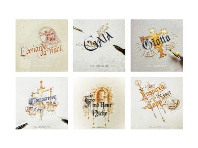 Calligraphy Works typography broad edge victorian lettering handlettering lettering calligraphy hardik singh cretalyst illustration traditional
