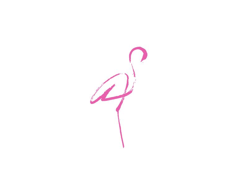 Flamingo  designdaily2016 365logodaily minimanimal minimalistic flamingo