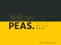 Yellow Peas Font Family