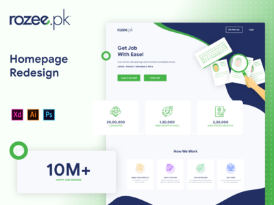 Rozee.pk Homepage Redesign