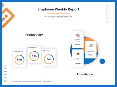 Employee Weekly Report - Template Design