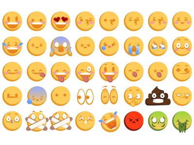 Emoji Set smile icon face emoji set emojis emoji