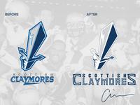 Scottish Claymores Rebrand