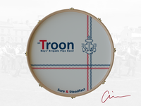 1st Troon Boys' Brigade Pipe Band Bass Drum Head