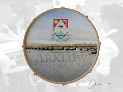 Arklow Pipe Band Bass Drum Head