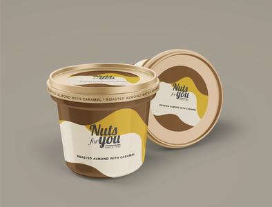Nutsforyou icecream weeklywarmup packaging design logo typography