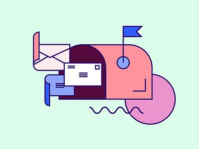 You've Got Mail! spot illustrations 1980s spot illustration icon professional clean minimal illustrator product illustration