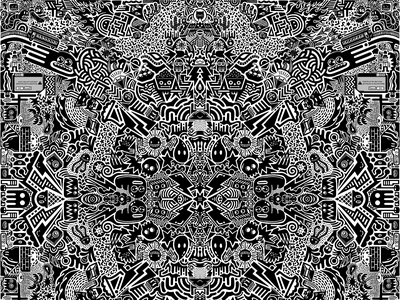 Doodle Sesh nyc hand drawn illustration surface illustration pattern procreate doodle