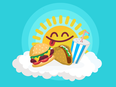 Fun in the Sun utah salt lake city foodie editorial illustration illustration food and drink vector cute happy editorial food