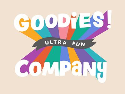 Goodies Ultra Fun Emblem typography design branding utah logo vector