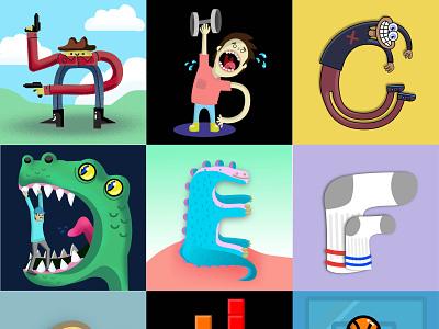 36 Days of Type Sampler letters type illustration